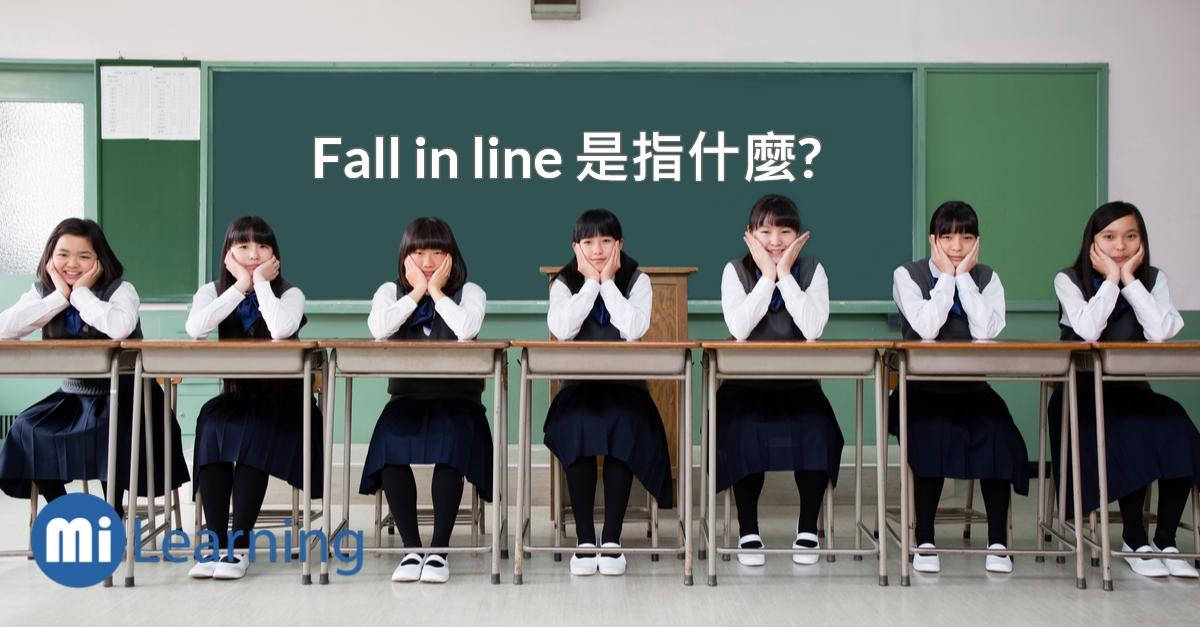 Fall in line 是指什麼?