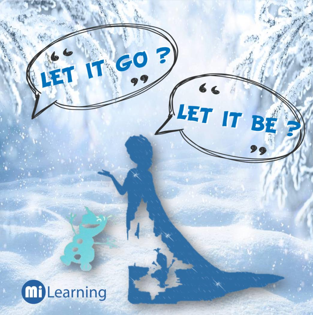 【Let it Go】【Let it Be】傻傻分不清?